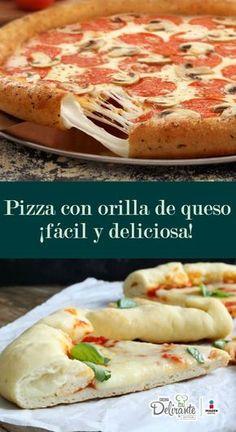 receta de pizza con orilla de queso | CocinaDelirante