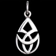 Silver pendant, Celtic design Silver pendant, Ag 925/1000 - sterling silver. Celtic design. Dimensions approx. 13x23mm.