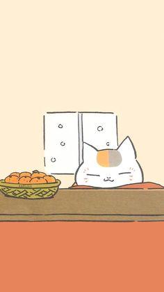 Kawaii nyanko sensei: Natsume's Book of Friends Manga Anime, Anime Art, Natsume Takashi, Anime Lock Screen, Hotarubi No Mori, Natsume Yuujinchou, Bts Aesthetic Pictures, Cat Wallpaper, Cute Cartoon Wallpapers