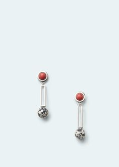 Semiprecious stone earring - Jewellery for Woman | MANGO