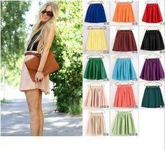 13 женщин цвет мягкий шифон Короткие юбки богемной плиссированные короткие юбки леди высокого качества двойной слой шифона юбка 268,38 - 279,41