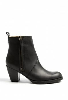 Black Matte Finish Pistol Boots by Acne I NEED THESE DLJSDJS