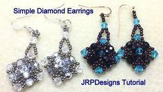 Simple Diamond Earrings--Beginner to Intermediate Tutorial