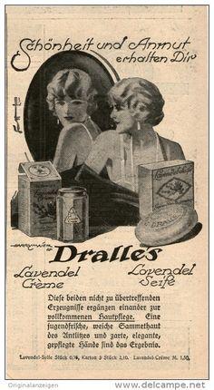Original-Werbung/Inserat/ Anzeige 1925:  DRALLE'S LAVENDEL CREME/SEIFE - ca. 180 X 90 mm