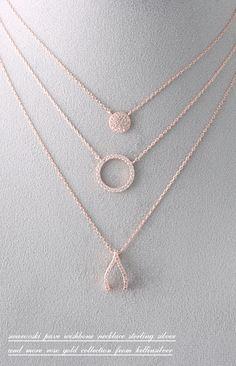 Swarovski Rose Gold Wishbone Pendant Necklace Sterling Silver from Kellinsilver.com – rose gold wishbone necklace, wishbone jewelry