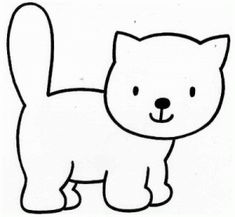 Cats Coloring Page For Children