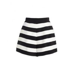 High Waist Stripe Contrast Shorts SH0160031 ($20) ❤ liked on Polyvore featuring shorts, yoyomelody, yoyo, high rise shorts, stripe shorts, striped shorts, highwaist shorts and highwaisted shorts