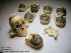 Joshua Flynn: Puppet Head sculpt - Mail Man - STEP 03