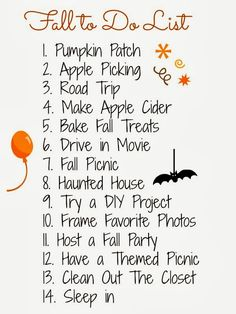 Heart Of Chic: fall to do list