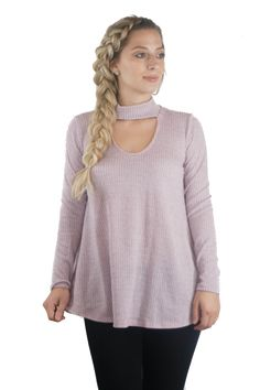 Purple choker long sleeve {$34} from Lainey Marie Boutique!