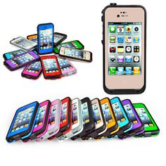 Water resistant Shockproof Hard Cover Case For Apple iPhone 5/5S