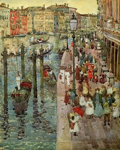 Maurice Brazil Prendergast - The Grand Canal Venice fine art preproduction . Explore our collection of Maurice Brazil Prendergast fine art prints, giclees, posters and hand crafted canvas products Art And Illustration, Illustrations, Art Beauté, Grand Canal Venice, Impressionist Artists, Art Moderne, Fine Art, Oeuvre D'art, Monet
