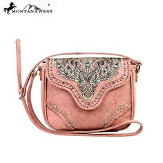Montana West MW208-8287 Embroidered Crossbody Bag