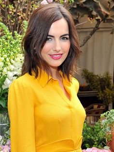 "camilla belle's rumpled bob | ""it's a one-length cut, but by snipping into the ends and leaving them uneven, belle's hair has an automatic tousled texture."" #cutinspiration"