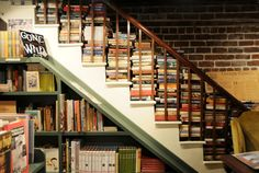 Books are our friends and look intriguing when stacked on a stairway. From The Book Lady Bookstore in Savannah, Georgia