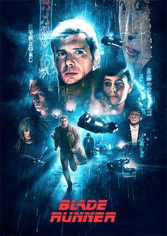 """Blade Runner"" alternative movie poster by Ignacio RC 80s Movie Posters, Tv Movie, Movie Poster Art, Sci Fi Movies, Indie Movies, Action Movies, Blade Runner Poster, Blade Runner Art, Blade Runner 2049"