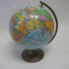 Vintage World Globe by coffeehousevintage on Etsy