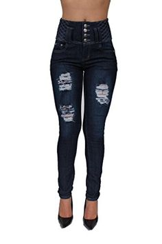High Waist Butt Lifting Colombian Style Ripped Skinny Jeans By Pasion Bleached Denim, Ripped Skinny Jeans, Pj, High Waist, Pants, Style, Fashion, Trouser Pants, Swag