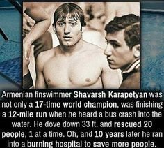 Hero! Armenian Shavarsh Karapetyan saved people from drowning after a bus accident and also rescued people from a burning building - as well winning medals as a world champion