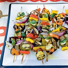 Grilled Veggie Kebabs | Coastalliving.com