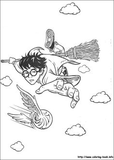 Flying Harry Potter Coloring Page Hellokids Members Love This You Can Choose Other Pages For Kids From HARRY