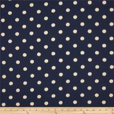 Premier Prints Ikat Dots Blue from @fabricdotcom%0A%0AScreen printed on natural cotton duck; this versatile medium weight fabric is perfect for window accents (draperies, valances, curtains and swags), accent pillows, duvet covers and upholstery. Create handbags, tote bags, aprons and more. *Use cold water and mild detergent (Woolite). Drying is NOT recommended - Air Dry Only - Do not Dry Clean. Colors include natural and navy blue.