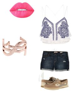 """Untitled #24"" by ambyrlyn on Polyvore featuring River Island, Sperry, Lime Crime and Yves Saint Laurent"