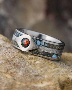 #fire #firering #blackfireopal #blackopal #opalrings #opaljewelry #weddingbands #engagementrings #titanium #titaniumrings #meteorite #meteoriterings #meteoritejewelry #authenticmeteorite #authentic #space #dinosaurbone #dinobone #timeandspace #jewelrybyjohan #jewelrygram #instajewelry #jewelryaddict #ringsofinstagram #ringsoftheday #madeinmn #shopsmall #oneofakind #fossil #fossiljewelry...
