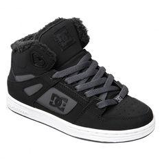 DC Shoes Rebound WNT black charcoal chaussures fourrées pour enfants 69,00 € #dc #dcshoes #chaussures #chaussure #shoe #shoes #dcshoecousa #skate #skateboard #skateboarding #streetshop #skateshop @playskateshop
