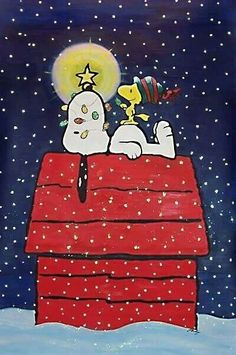 Snoopy and Woodstock:: A Charlie Brown Christmas. Snoopy Love, Snoopy E Woodstock, Charlie Brown Und Snoopy, Peanuts Christmas, Noel Christmas, Winter Christmas, Vintage Christmas, Charlie Brown Christmas Decorations, Funny Christmas