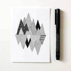 Mountain print / Lost in Mountains / A6 print / by anitaivancenko