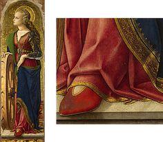Carlo Crivelli - Santa Caterina d' Alessandria; pannello Polittico del 1476 (o Polittico di San Domenico o, impropriamente, Polittico Demidoff) - 1476 - National Gallery di Londra