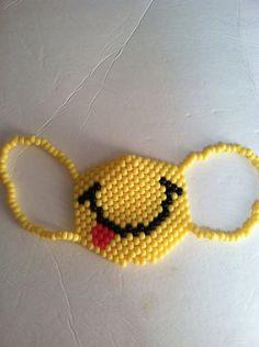 Smiley face kandi mask by 4EverCrafty on Etsy