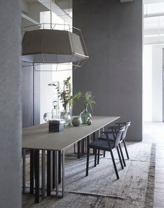View the full picture gallery of LEMA Flagship Store Minimalist Dining Room Furniture, Simple Furniture, Design Furniture, Table Furniture, Room Interior Design, Dining Room Design, Table And Chairs, Dining Table, Boffi