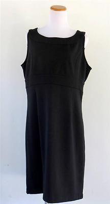 Ann Taylor Black Shift Dress Jumper Size 16 Work Career Sleeveless Versatile   eBay