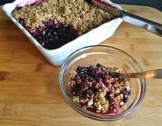 One of my favourite summer desserts is a fruit crisp. Whether it is apple, rhubarb, blueberry, peach, mixed berries or Saskatoon, a cri...