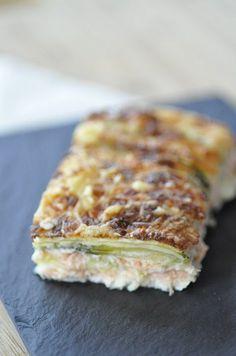 gratin courgette saumon comme des lasagnes sans pâte - Blog cuisine avec du chocolat ou Thermomix mais pas que