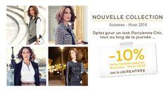 Votre look rentrée chic à -10% ! http://www.unjourailleurs.com #mode #automnehiver