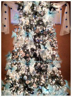 Tiffany Blue Christmas Tree   ♥Teisha Lyons Designs♥