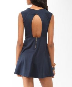 Ponte Knit Open Back Dress | FOREVER 21 - 2000045529