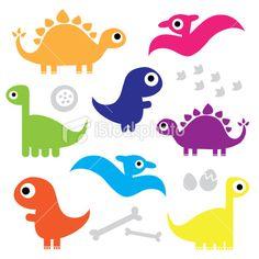 Cute Dinosaur Characters Royalty Free Stock Vector Art Illustration