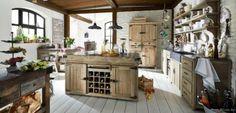 Lee&Lewis Kitchen Keukenblok Met 2 Deuren En Wijnkast Oud Dennehout 165 Poolhousekeuken-Poolhouse keuken-Buitenkeuken
