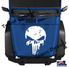 Distressed Skull Punisher Hood Vinyl Decal 16 23 by TowerDecals
