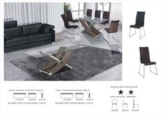 Stunning Italian Design Coffee table in Black, Oak & Walnut with Clear Glass…
