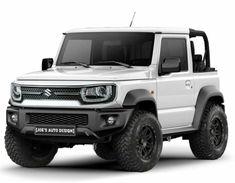 Unusual design! Suv Trucks, Ford Pickup Trucks, Mini Trucks, Jeep Cars, Jeep Truck, Jeep Jeep, New Foto, New Suzuki Jimny, Suzuki Cars