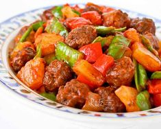Treat your family to these tender and delicious Sweet and Sour Meatballs combined with bell peppers, snow peas, and pineapples. Homemade is the best!