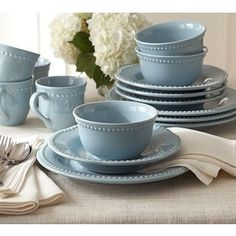 Pottery Barn Emma Blue. (how ironic...they have my name on them. its a sign. I need them.)