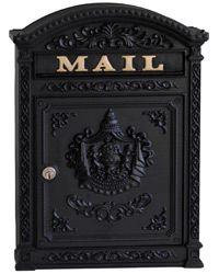 Ecco 6 Wall Mount Mailboxes Black
