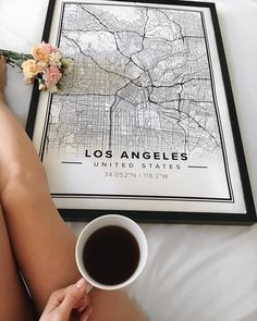 "Map poster of Los Angeles, U.S. Print size 50 x 70 cm. 10% OFF + FREE SHIPPING use ""PINTEREST"" at Mapiful.com"