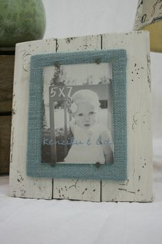 Distressed wood picture frame 5x7 frame handmade frame by Kenzilu
